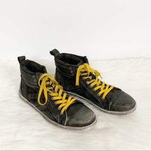 Bed|Stu | Gray Leather Hightop Sneakers SZ 11
